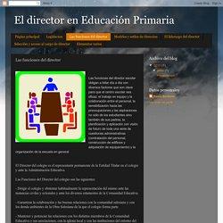 El director en Educación Primaria: Las funciones del director
