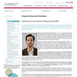 Axel Rivas es el nuevo director de Educación de CIPPEC - Novedades - Cippec
