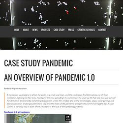 Lance Weiler :: story architect of film, tv and games » Case Study – Pandemic