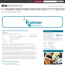 Director of Learning Job, Kensington and Chelsea, L14 – L18 (£52,129 - £60,525 pa) - TES Jobs