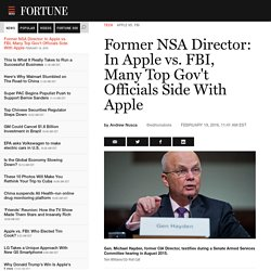 Ex-NSA Director Michael Hayden Weighs In on Apple vs. FBI