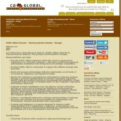 Public Affairs Director - Pharmaceuticals Industry - Senegal - Jobs