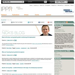 IPPR Director Nick Pearce blogs from the heart of progressive thinking in Britain
