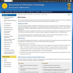SETU Centres-Directorate of Information Technology, Government of Maharashtra, India.