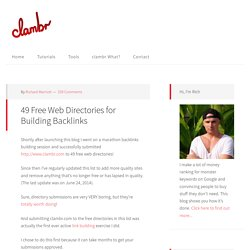 49 Free Web Directories for Building Backlinks