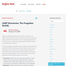LDAP Directories: The Forgotten NoSQL - Engine Yard Blog