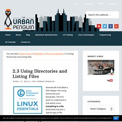 2.3 Using Directories and Listing Files - The Urban Penguin