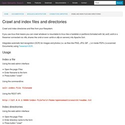 Crawl and index files and directories