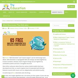 Web Directories That Still alive - Try Educations Types