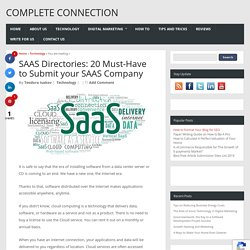 SAAS Directories: 20 Must-Have to Submit your SAAS Company