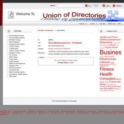 Union Of DirectoriesDirect Marketing Services - ThinkSmart - Details -