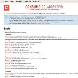 Directorio de proyectos de Consumo Colaborativo