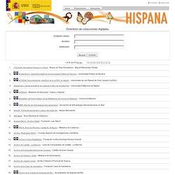 Hispana. Directorio y recolector de recursos digitales > Directorio de colecciones digitales
