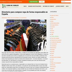 Directorio para comprar ropa de forma responsable en España