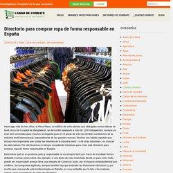 Directorio para comprar ropa de forma responsable en España – Carro de combate