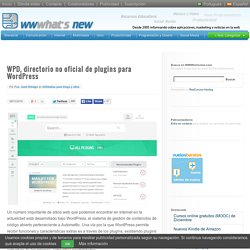 WPD, directorio no oficial de plugins para WordPress