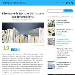 Directorio de Revistas de Historia con Acceso Abierto