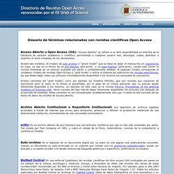 Directorio de Revistas Open Access por el ISI Web of Science