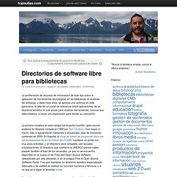 Directorios de software libre para bibliotecas