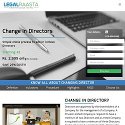 Change in Directors for company in India