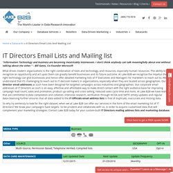 IT Directors Email List