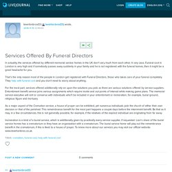 Services Offered By Funeral Directors: levertonbros03