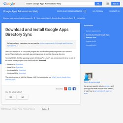 Download and install Google Apps Directory Sync - Google Apps Administrator Help