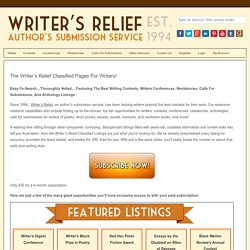Writing Contests, Contest List, Directory | Competitions, Get Published | Contests For Writers
