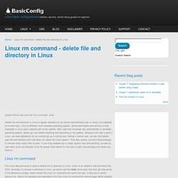 Linux rm command - delete file and directory in Linux