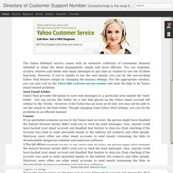 Directory of Customer Support Number: How to Fix if Yahoo Mail Won't Show Sent Emails