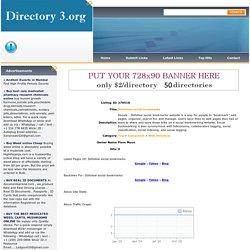 Directory 3.org:Dofollow social bookmarks