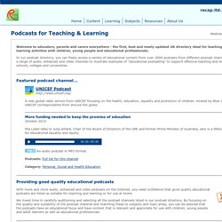Podcast directory for educators, schools and colleges
