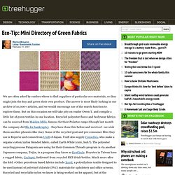 Eco-Tip: Mini Directory of Green Fabrics