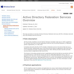 Active Directory Federation Services Overview