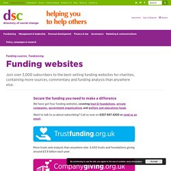 Directory of Social Change - Funding websites