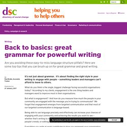 Great Grammar for Powerful Writing