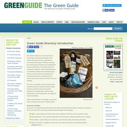 Green Guide Directory Introduction