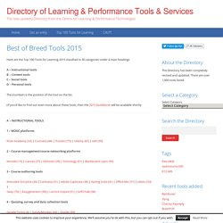 Directory of Learning & Performance Tools & Services