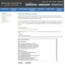 Directory of Journals