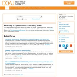 DOAJ -- Directory of Open Access Journals