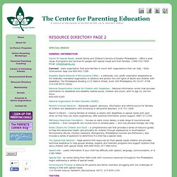 Resource Directory - Page 2The Center for Parenting Education