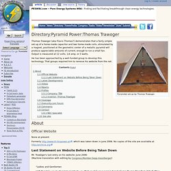 Directory:Pyramid Power:Thomas Trawoger