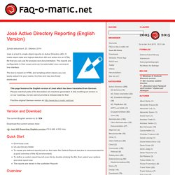 José Active Directory Reporting (English Version)
