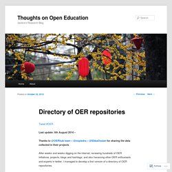 Directory of OER repositories