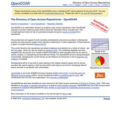 Directory of Open Access Repositories