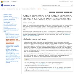 Active Directory and Active Directory Domain Services Port Requirements