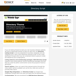 Directory Script, PHP Business Directory Script