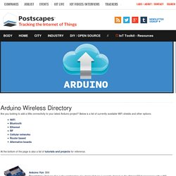 Directory of Arduino Wireless Solutions- Postscapes