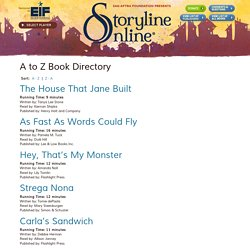 A to Z Book Directory - Storyline Online