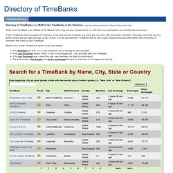 TimeBanks Community Directory - Please Read Instructions Carefully! | Community Directory